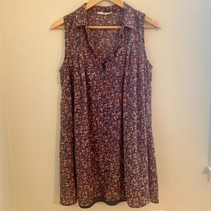 Floral Collared Button Dress